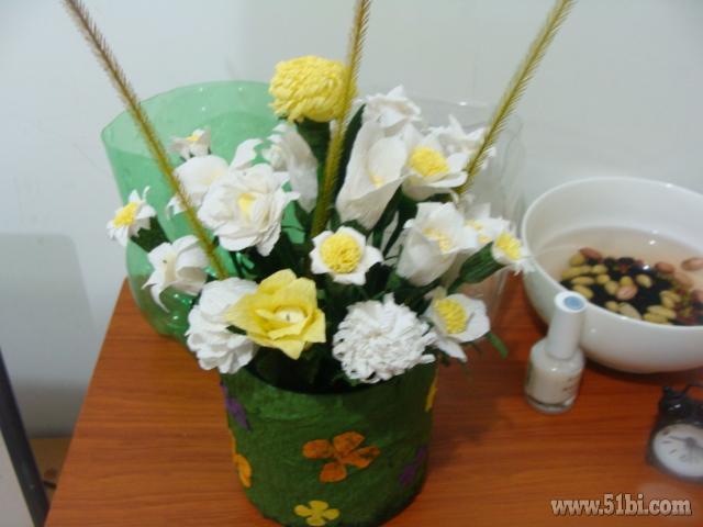 美美的皱纹纸花
