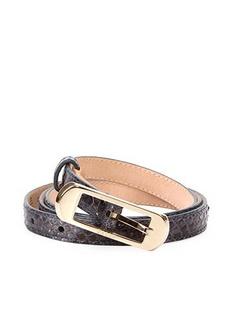 BALLY巴利蓝灰色牛皮材质蛇纹样式女士腰带,BA?REM6162444.95