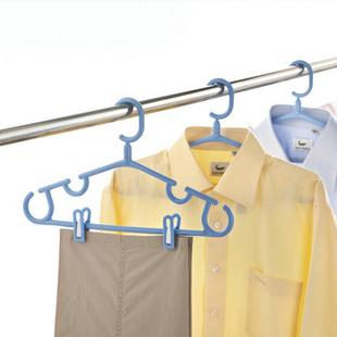 汇丰信佳 可旋转挂钩 可挂吊带 塑料衣架加厚 42.5cm