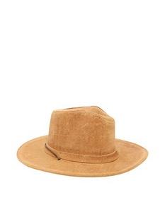 MINNETONKA迷你唐卡驼色真皮材质纯色男士牛仔帽,12Y416MK,9541,MEDIUM