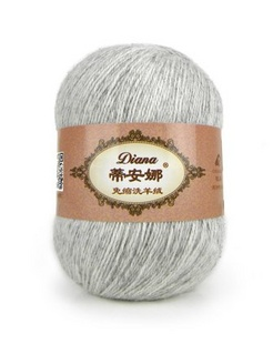 蒂安娜 / 牧羊免洗羊绒线礼盒装(6团/300g)浅灰色