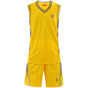 CBA男款专业训练比赛服篮球服套装 518329002 -111黄色 L
