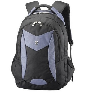美国森泰斯Sumdex 15寸悬空绒里超轻双肩电脑男背包PON-366GY灰蓝