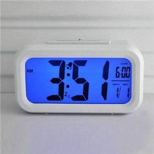 琪特 时尚电子钟表聪明闹钟台钟6021(多色可选) 白色