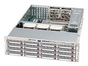 超微 SC836E1-R800V 3U 16*SAS/SATA热插拔硬盘位 800W冗余电源