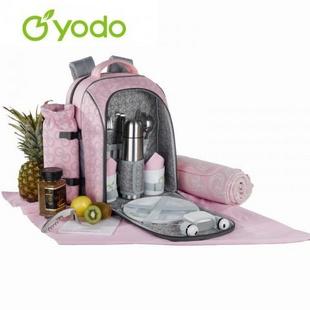 芳菲双肩两人份野餐包22L粉红