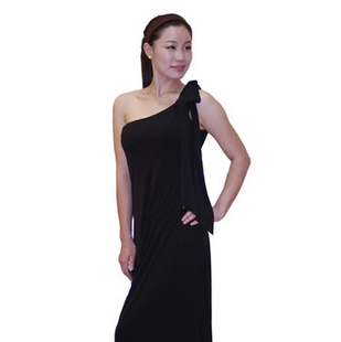 CSILOVE 时尚性感 黑色 长裙