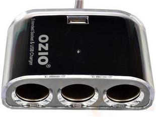 OZIO 奥舒尔 EF32 一分三车载点烟器 豪华版 黑色