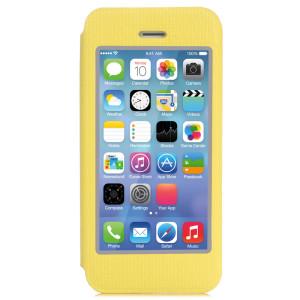 x-doria(道瑞)苹果iPhone5S/5博逸系列手机翻盖带视窗保护套/壳 悦目黄