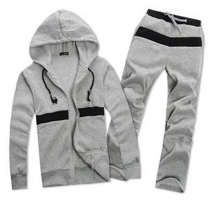 秋装韩版运动卫衣套装 运动服套装 运动装训练服跑步服 灰色 M