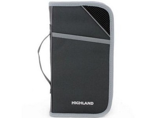 HIGHLAND证件袋 HPT01129 红 采用高强度防刮耐磨防泼水涤纶面料,人性化设计舒适与外观高安全性。