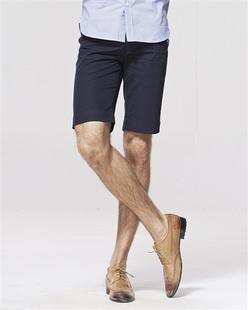 眼镜印花纯棉休闲短裤