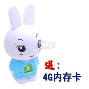 贝嘟嘟小兔白白儿童MP3 早教机 (4G内存)无限下载 蓝色