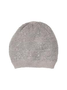 亮片装饰针织帽