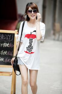 2014年新款女装2013年女式正品夏装新韩版莫代尔棉印花T恤,淘宝一淘网与支付宝合作商城!
