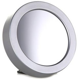 TIMESS 声控圆形多功能镜面闹钟 UI-0201银色