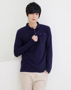 藏蓝色polo衫