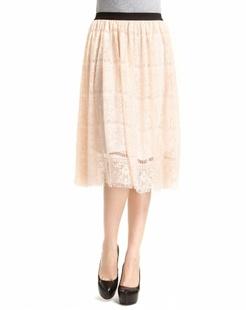 粉红色时尚镂空中裙