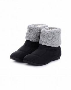 女款黑色高筒雪地靴