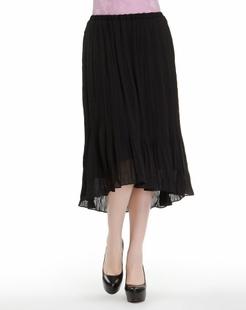 黑色百搭舒适长裙