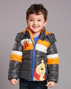 男童灰色棉衣