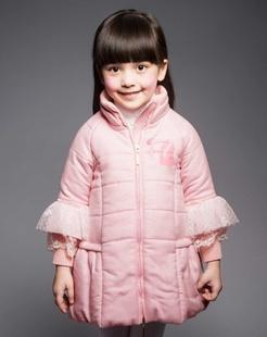 女童粉色棉衣