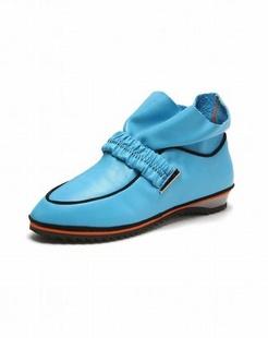 女款蓝色时尚休闲单鞋