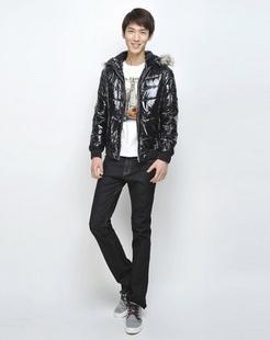 男款黑色加厚保暖时尚棉衣