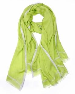 简约浪漫绿色围巾