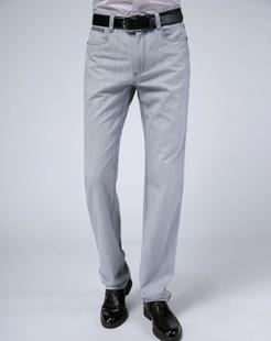 男款浅灰牛仔裤