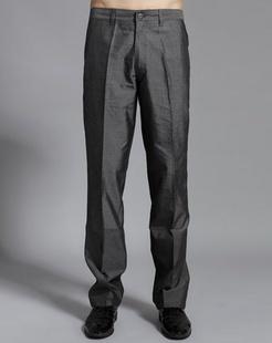 男款灰色休闲裤