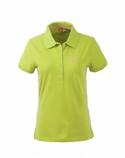 女款草绿色舒适简约短袖POLO衫