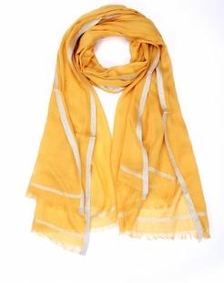简约浪漫黄色围巾