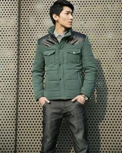 男款绿色男装棉衣