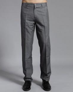 男款浅灰休闲裤