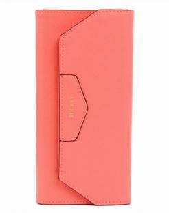 粉色牛皮多彩钱包
