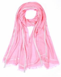 简约浪漫粉红色围巾