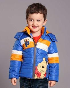 男童宝蓝棉衣