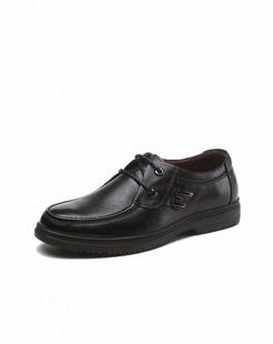 复古简约商务黑色皮鞋