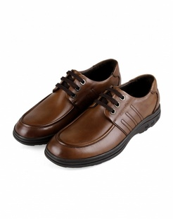棕色舒适商务休闲皮鞋