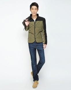 男款军绿色时尚棉衣