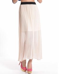 米色轻薄透气雪纺长裙