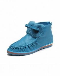 女款蓝色时尚百搭个性单鞋