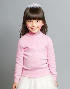 女童粉色毛衣