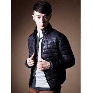 ULICI 尤利奇 男士新款高品质纯色棉衣 男装时尚休闲棉服 男士韩版修身时尚百搭棉衣 黑色 L170/88