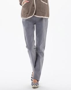 灰色彩色牛仔铅笔裤