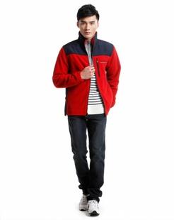 男款红色长袖个性百搭卫衣