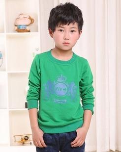 男童绿色针织衫