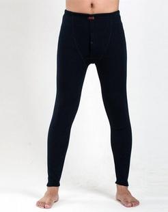 男款藏青色加厚护膝保暖裤