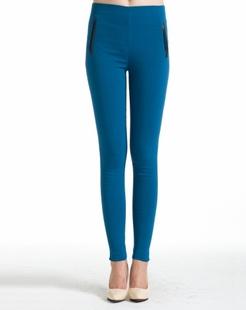 蓝色加厚打底裤